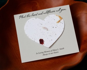 Heart Wildlflower Funeral Card