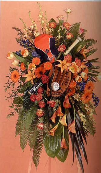 creative flower arrangement for fitness legend jack