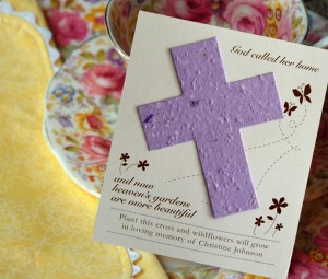 Cross Seed Wildflower Memorial Cards