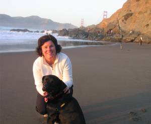 Mary and Kelly at our favorite place- Baker Beach in San Francisco