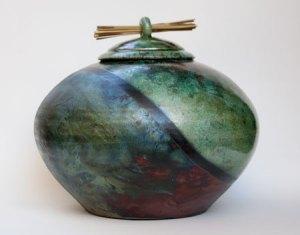 Raku Ceramic Urn