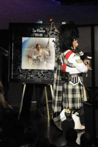 Bag Piper Playing at Dan Wheldon's Celebration of life
