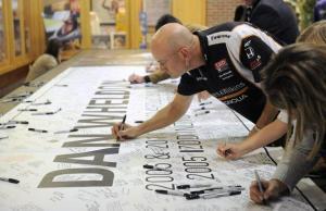 Banner Signing at Dan Wheldon's Celebration of life