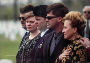 What to Wear at a funeral? This is an example of a more traditional dressy funeral.