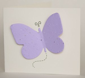 Butterfly Forget Me Not Plantable Funeral Cards