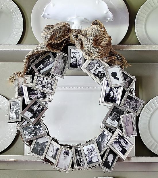 a great way to display photos for a memorial service while creating a family heirloom at
