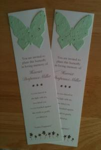 Plantable Forget-Me-Not Butterfly Bookmarks.