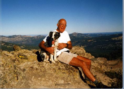 Bill Canning happy outdoors with his best buddy.