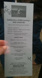 Celebration of Bill Canning's Well-Lived Life Program