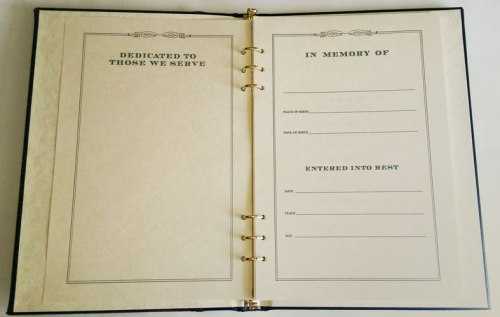 Interior of memory book