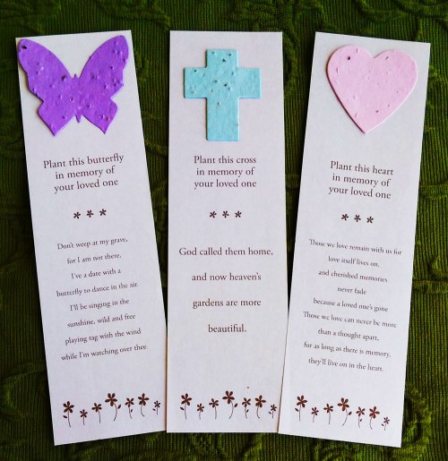 Plantable seed card bookmarks